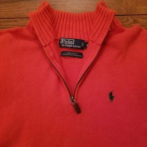 Men's Polo By Ralph Lauren Orange Sweater